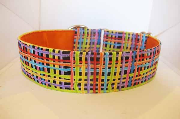 Orange Satin Lined Lines Cotton House Collar