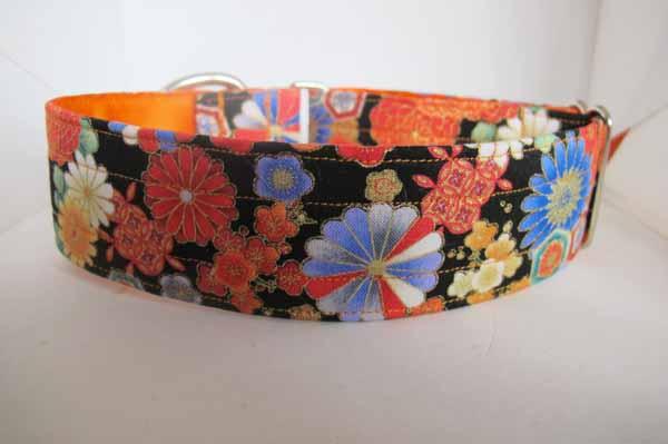 Orange Satin Lined Marie Cotton House Collar
