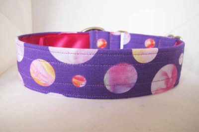 Purple Pebbles Satin Lined Cotton House Collar