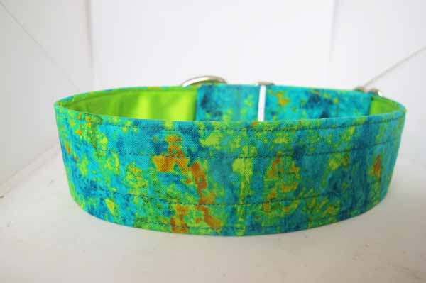 Green Satin Lined Nice & Bright Cotton House Collar