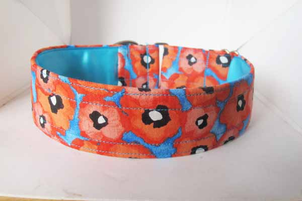 Perfect Poppy Satin Lined Cotton House Collar