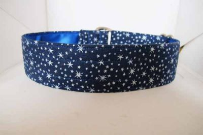 Stars Satin Lined Cotton House Collar