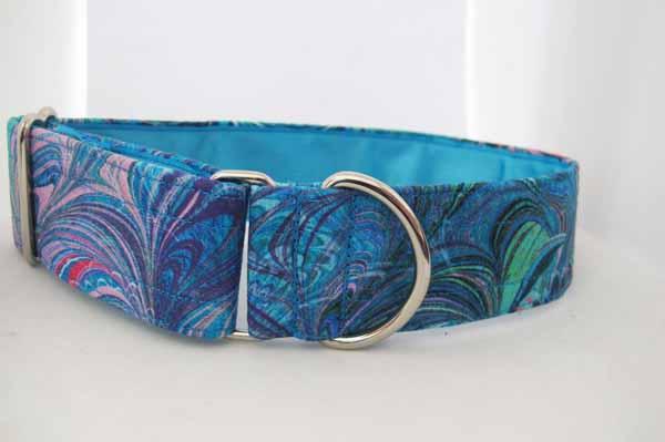 Blue Satin Lined Blue Mona Cotton House Collar