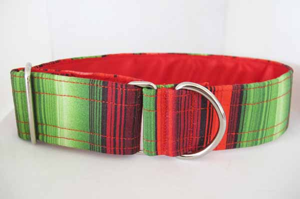 """1.5"""" red satin lined Sherbert cotton house collar"""