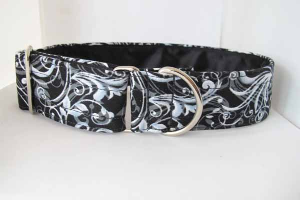 Black Satin Lined Willow Cotton House Collar
