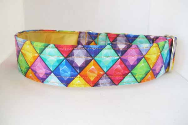 Yellow Satin Lined Diana Cotton House Collar
