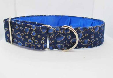 Blue Satin Lined Cheddar Cotton House Collar