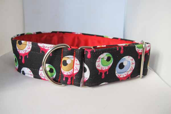 Red Satin Lined Eye Eye Cotton House Collar