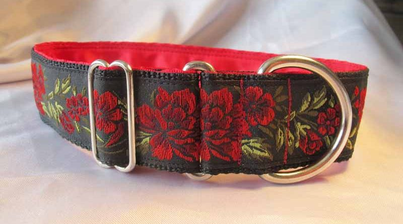 "Red Rose 1.5"" Satin Lined House Collar"