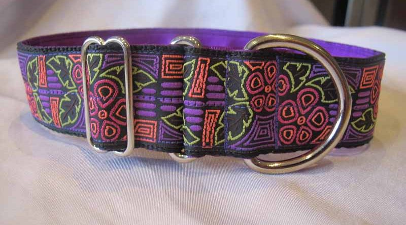 "Julie Purple 1.5"" Satin Lined House Collar"