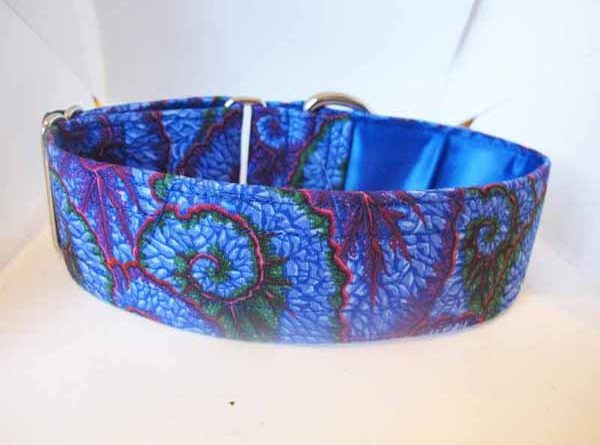 Satin Lined Blue Evei Cotton House Collar