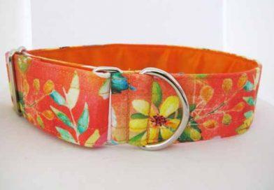 Orange Satin Lined Spring Cotton House Collar