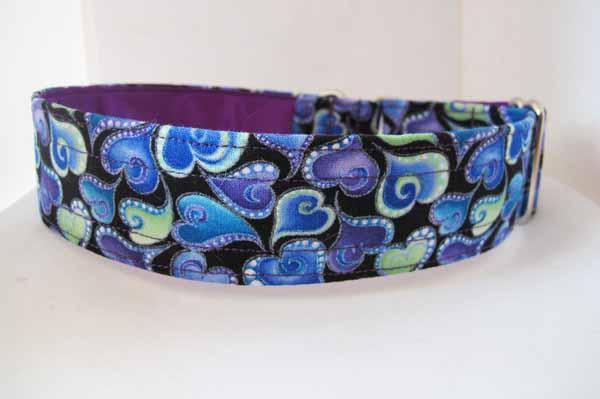 Purple Satin Lined Swift Cotton House Collar