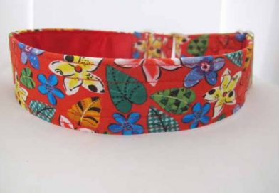 Red Satin Lined Rosie Cotton House Collar